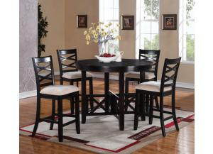 Epiphany Counter Table with 4 Counter Chairs