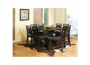 Malbec Counter Table with 6 Counter Chairs