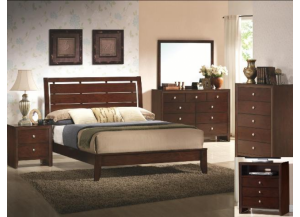 Evan Twin Bed, Dresser, Mirror, Tv Chest and Nightstand