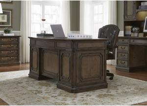AMELIA EXECUTIVE DESK WITH TWO FILE DRAWERS