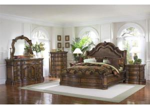 San Mateo King Bed, Dresser, Mirror and N.stand